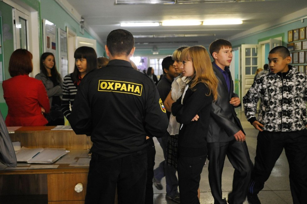 Охрана школы в Курске
